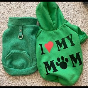 Dog sweatshirt and fleece